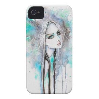 Gotisches abstraktes Fantasie-Kunst-Geist-Mädchen iPhone 4 Hüllen