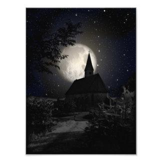 Gotisches dunkles Schloss im Mondlicht Photos