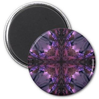 Gotisches dunkles Spitze-Kaleidoskop Runder Magnet 5,1 Cm