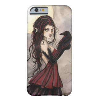 Gotisches Fantasie-Kunst-Hexe und Rabe iPhone 6 Barely There iPhone 6 Hülle