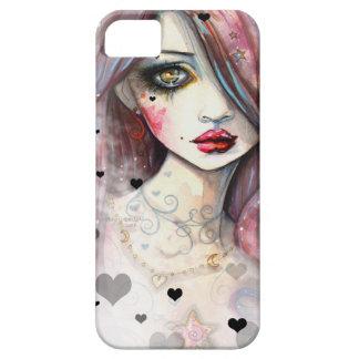 Gotisches Fantasie-Mädchen mit Herzen iPhone 5 Etui Fürs iPhone 5