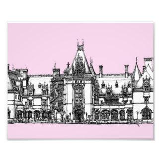 Gotisches Haus im Rosa Foto