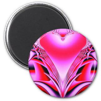 Gotisches Herz Runder Magnet 5,7 Cm