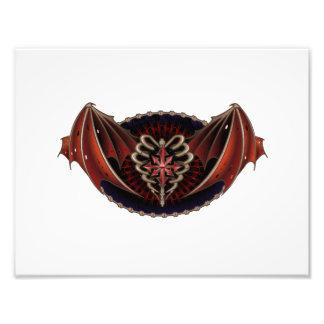 Gotisches Herz mit Flügel-Tätowierungs-Entwurf Fotografie