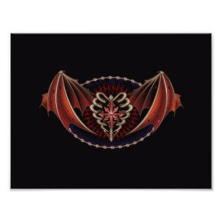 Gotisches Herz mit Flügel-Tätowierungs-Entwurf Kunstphoto