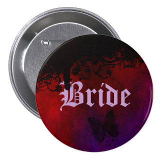 Gotisches Herz Runder Button 7,6 Cm