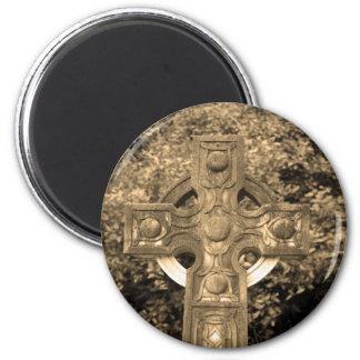 Gotisches Kreuz Runder Magnet 5,1 Cm