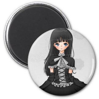 """""""Gotisches Lolita"""" Magnet Runder Magnet 5,7 Cm"""