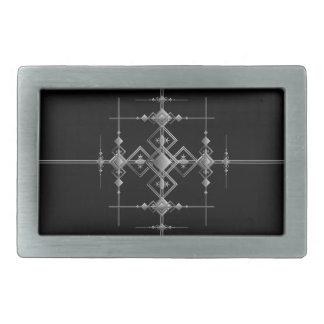 Gotisches metallisches Muster Rechteckige Gürtelschnalle