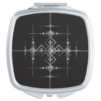 Gotisches metallisches Muster Schminkspiegel