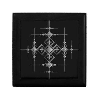 Gotisches metallisches Muster Schmuckschachtel