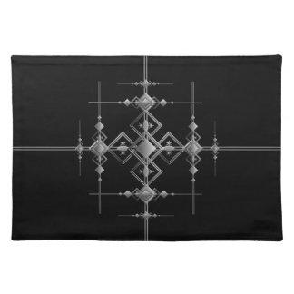 Gotisches metallisches Muster Stofftischset