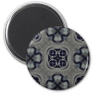 Gotisches mittelalterliches ausführliches Muster Runder Magnet 5,1 Cm