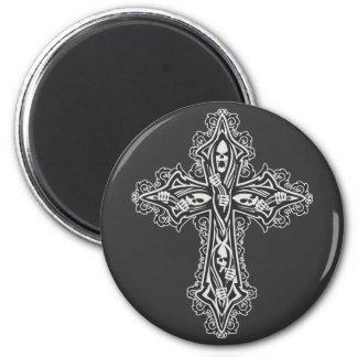 Gotisches Schädel-Kreuz Magnete