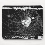 Gotisches Schädel-Spinnen-Netz Mousepad