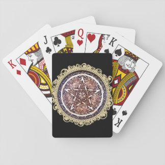 Gotisches Tor-Pentagramm-Spielkarten - Schwarzes Spielkarten