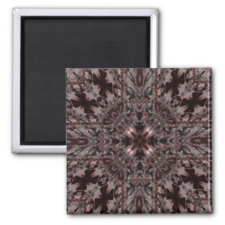 Gotisches Vampirs-Kaleidoskop Quadratischer Magnet