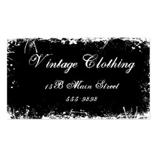 Gotisches Vintages Schwarzes Visitenkarten Vorlage