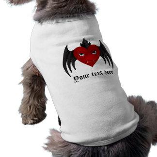 Gotisches Winged Herz Shirt