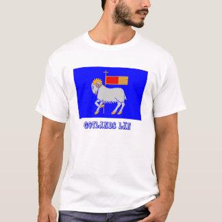 Gotlands län Flagge mit Namen T-Shirt