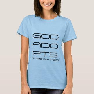 Gott adoptiert T-Stück T-Shirt