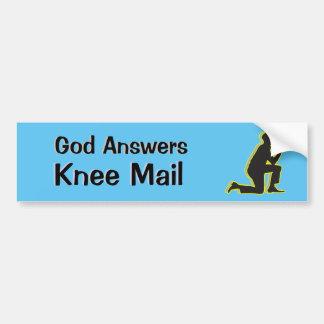 Gott beantwortet E-MailOm Knie-Post-Alkohol-Sucht Autoaufkleber