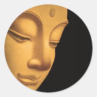 Gott Buddha Runder Aufkleber