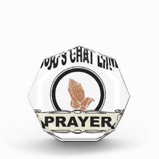 Gott-Chatlinie Gebet Acryl Auszeichnung