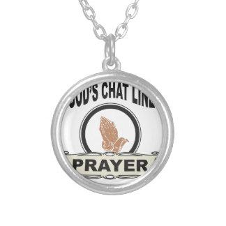 Gott-Chatlinie Gebet Versilberte Kette