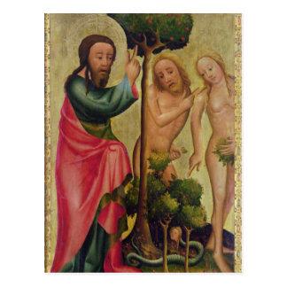 Gott der Vater bestraft Adam und Eve Postkarte
