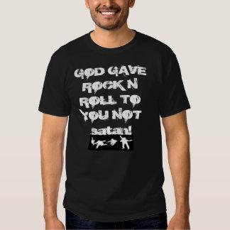 Gott gab RockNRoll auf schwarzer T Hemd