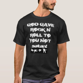Gott gab RockNRoll auf schwarzer T T-Shirt