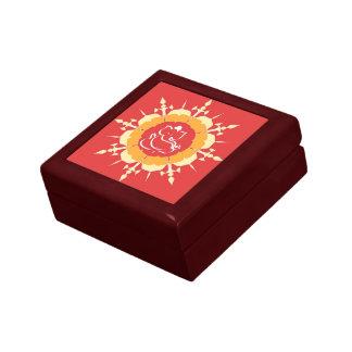 Gott Ganesha auf roter Blume Geschenkbox