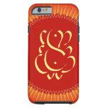 Gott Ganesha mit Sonnestrahlen Tough iPhone 6 Hülle