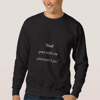 Gott geht mit mir sweatshirt