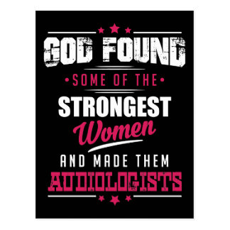 Gott gemachter Audiologe-unglaublich witzig Postkarte