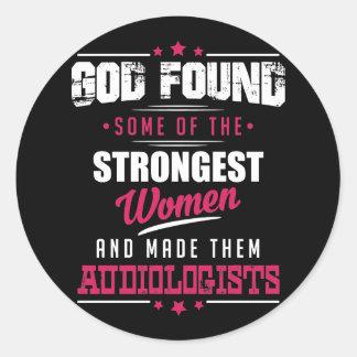 Gott gemachter Audiologe-unglaublich witzig Runder Aufkleber