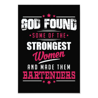 Gott gemachter Barkeeper-unglaublich witzig 8,9 X 12,7 Cm Einladungskarte