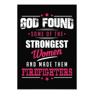 Gott gemachter Feuerwehrmann-unglaublich witzig 8,9 X 12,7 Cm Einladungskarte