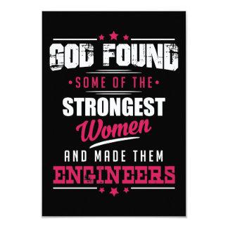 Gott gemachter Ingenieur-unglaublich witzig 8,9 X 12,7 Cm Einladungskarte