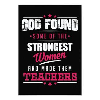 Gott gemachter Lehrer-unglaublich witzig 8,9 X 12,7 Cm Einladungskarte