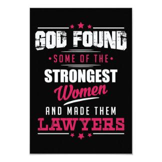 Gott gemachter Rechtsanwalt-unglaublich witzig 8,9 X 12,7 Cm Einladungskarte