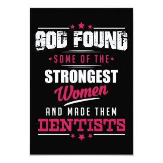 Gott gemachter Zahnarzt-unglaublich witzig 8,9 X 12,7 Cm Einladungskarte