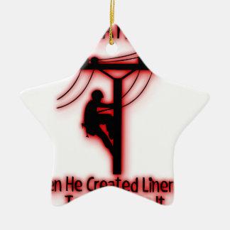 Gott geschaffenes Licht - lustige Bibel, Keramik Stern-Ornament