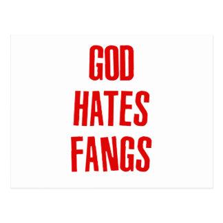 Gott hasst Reißzähne Postkarte