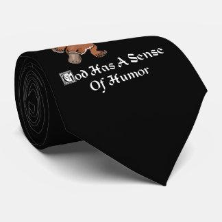 Gott hat eine Richtung des Spaßes - lustiges Krawatte