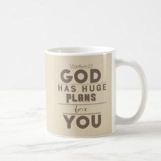 Gott hat enorme Pläne für Sie Kaffee-Tasse Kaffeetasse