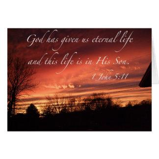 Gott hat uns ewiges Leben - Anmerkungs-Karte Karte