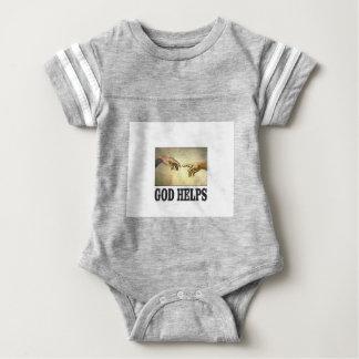 Gott hilft Mann Baby Strampler