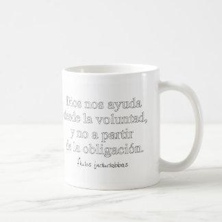 Gott hilft uns kaffeetasse